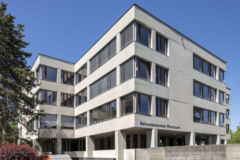 Aufnahme Fassade und Fenster Sekundarschule Rheinpark